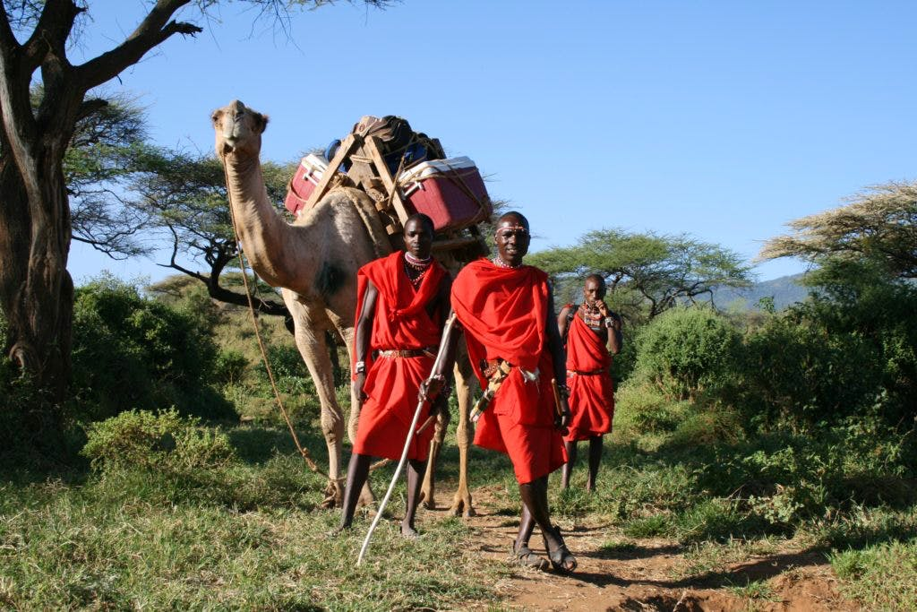 Maasai tribesmen in Kenya